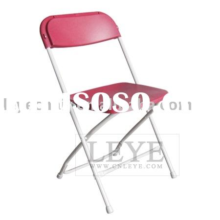 plastic folding chair-red