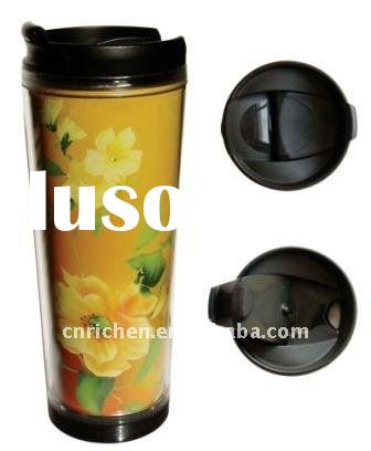 promotional mugs and cups with advertising paper inserted