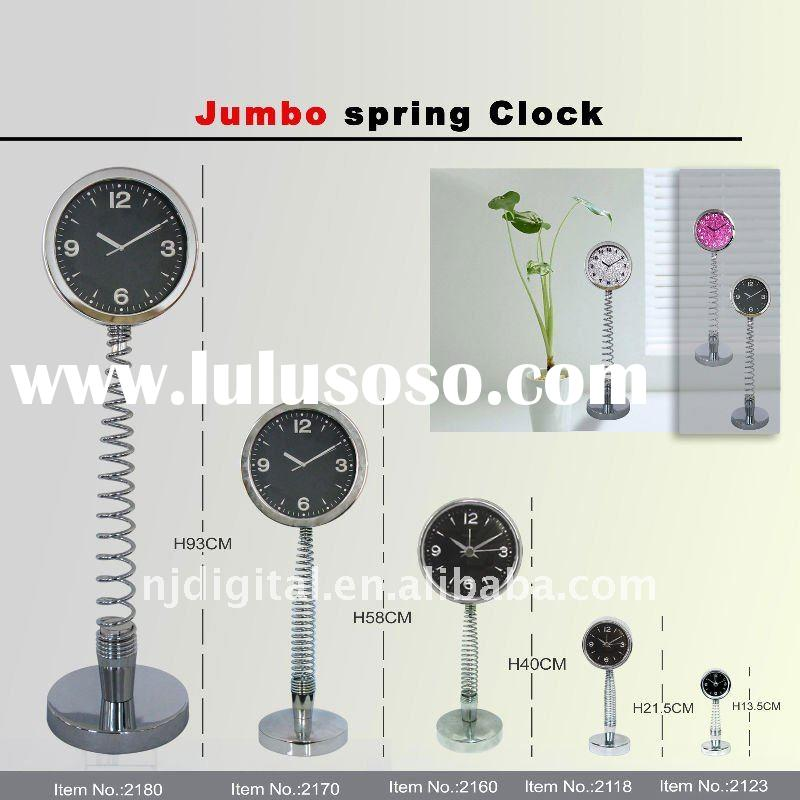 quality metal spring table clock with alarm
