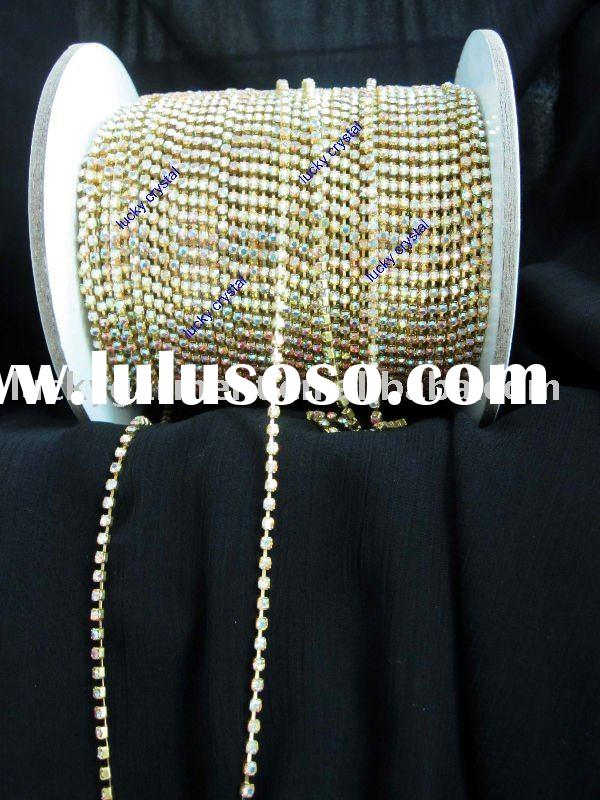 rhinestone cup chain in crystal ab color