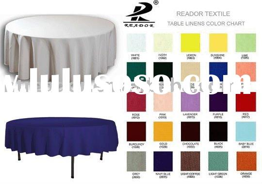 round polyester table cloth for weddings