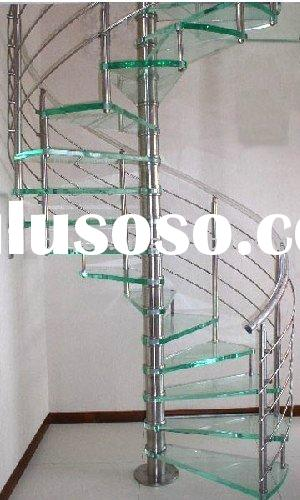 spiral stainless steel stairs