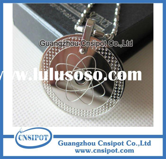 stainless steel germanium quantum scalar energy pendant