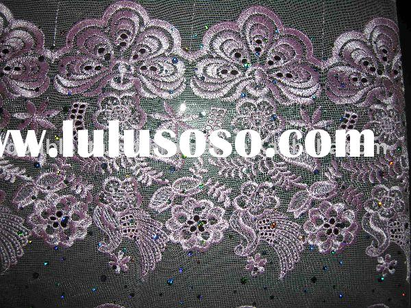troditional dress Embroidery fabric,lace lining