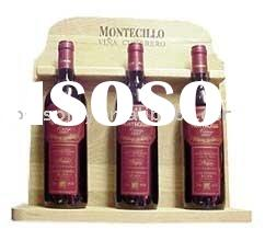 wine bottle display wooden wine holder Customized back bar displays Bottle Display Stands