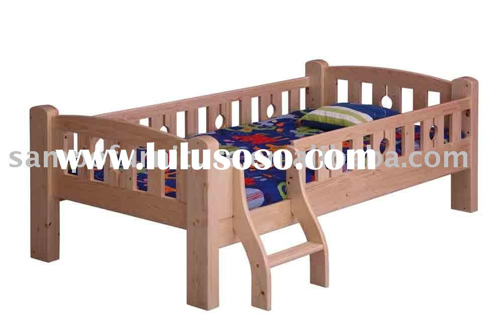 wooden baby convertible cot bed/kids bed/baby bed/children wooden bed