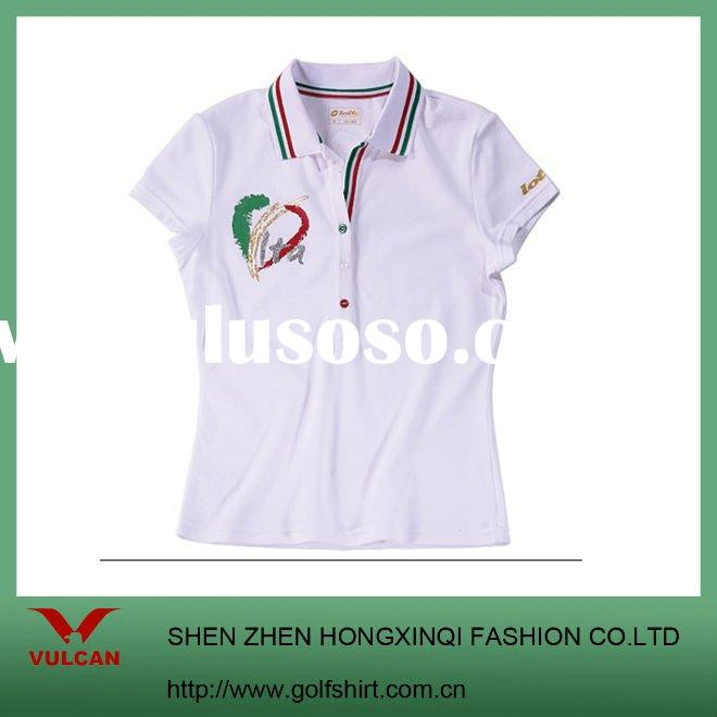 100% PIMA Cotton Golf POLO T shirt with printing logo
