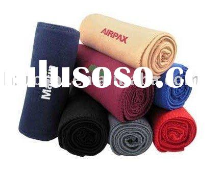 100%polyester embroidery polar fleece blanket