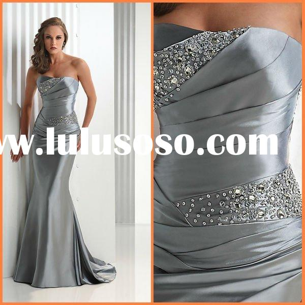 2012 Hot sale New style silver dresses evening