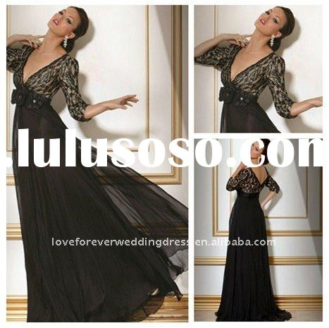 Black Lace Dress Long Sleeve on Long Black Evening Dresses  Inexpensive Uk Long Black Evening Dresses
