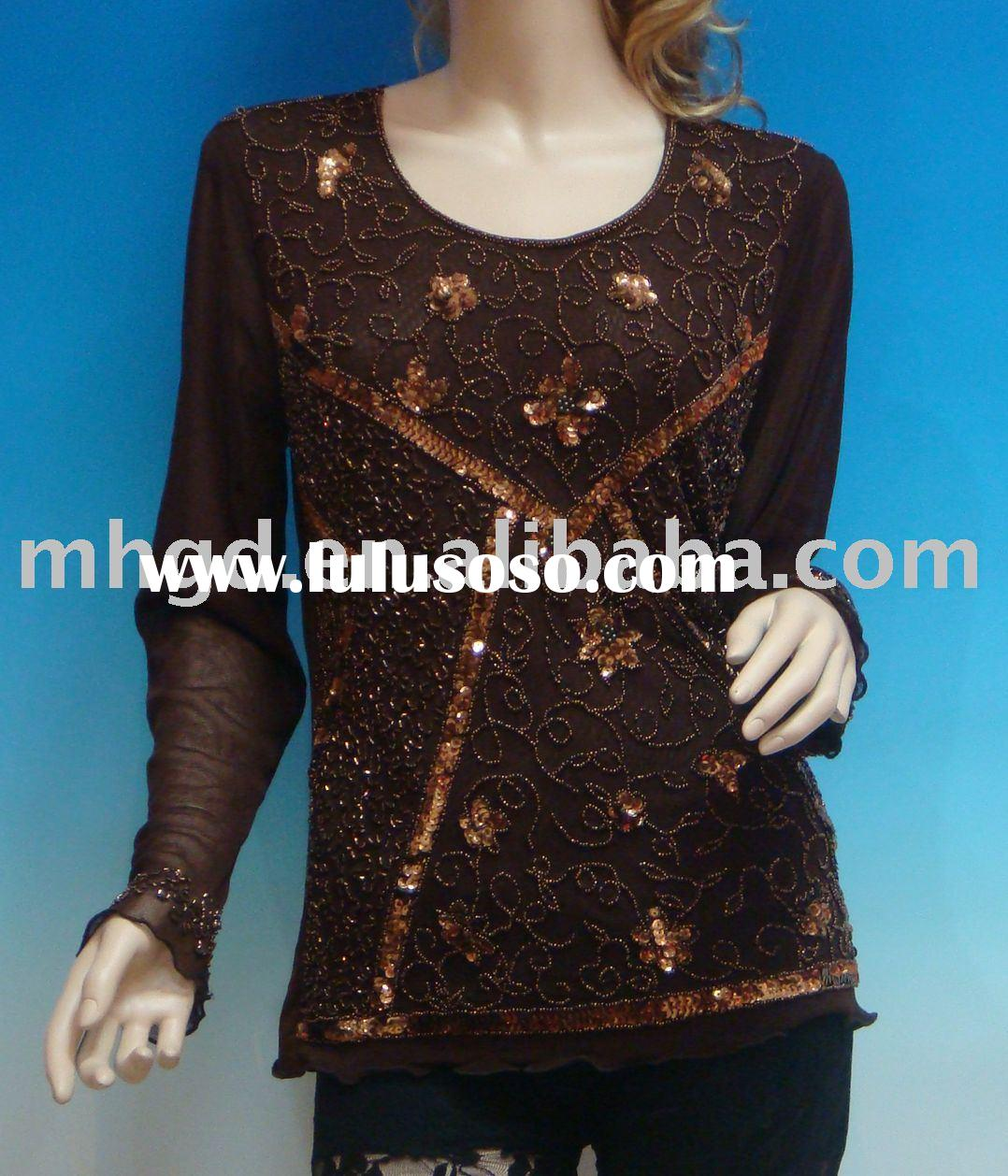 2432# ladies' blouse(women's clothing,causal brand clothing)