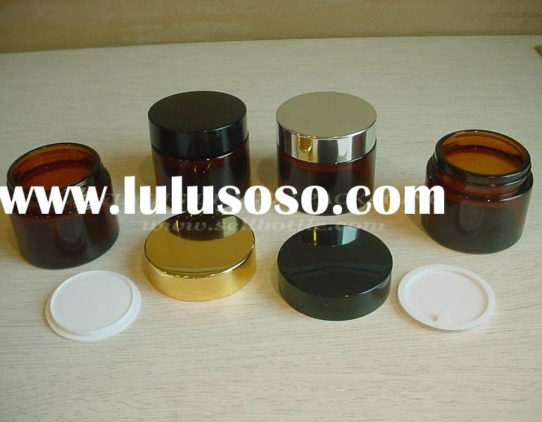 30ml, 60ml, brown/ amber Glass jar with lid,wholesale glass jars