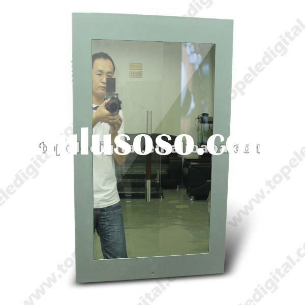 32 inch clothing store/hotel/night bar bathroom/restrooms lcd magic mirror display for advertisement
