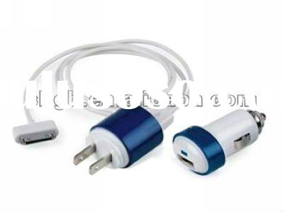3 in 1 Mini USB Charger for iphone, ipad, ipod