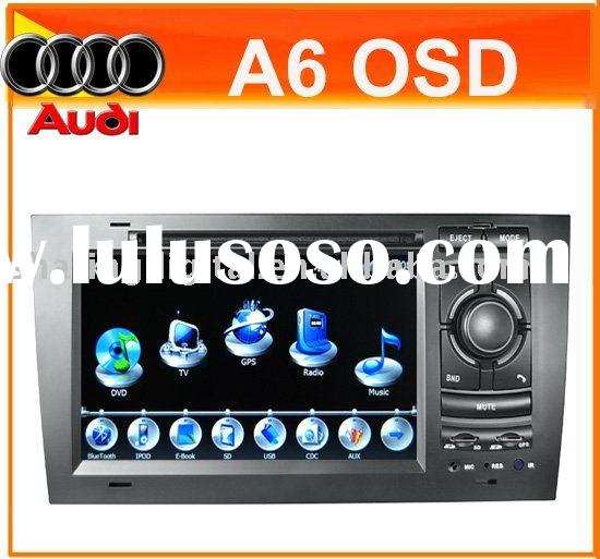 "7""hd double din car radio dvd GPS with Bluetooth/USB/SD/TV for Audi A6"