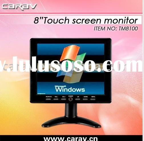 8 inch diagonal brand new panel TFT car vga lcd touch screen monitor/Touch display,with Rear view ca