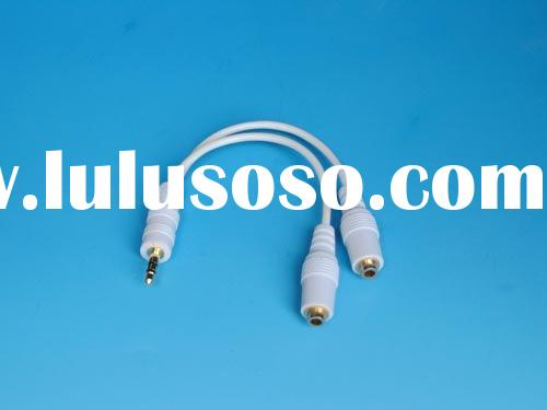 Audio Cable 3.5mm audio jack connector/M- double audio output jack/F