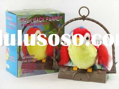 B/O talk back parrot,toy parrot,b/o toys,electrical animal,plastic battery operated toys,musical ele