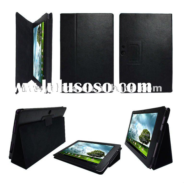 Black Leather Stand Case Cover For Asus Eee Pad Transformer Prime TF201 Tablet