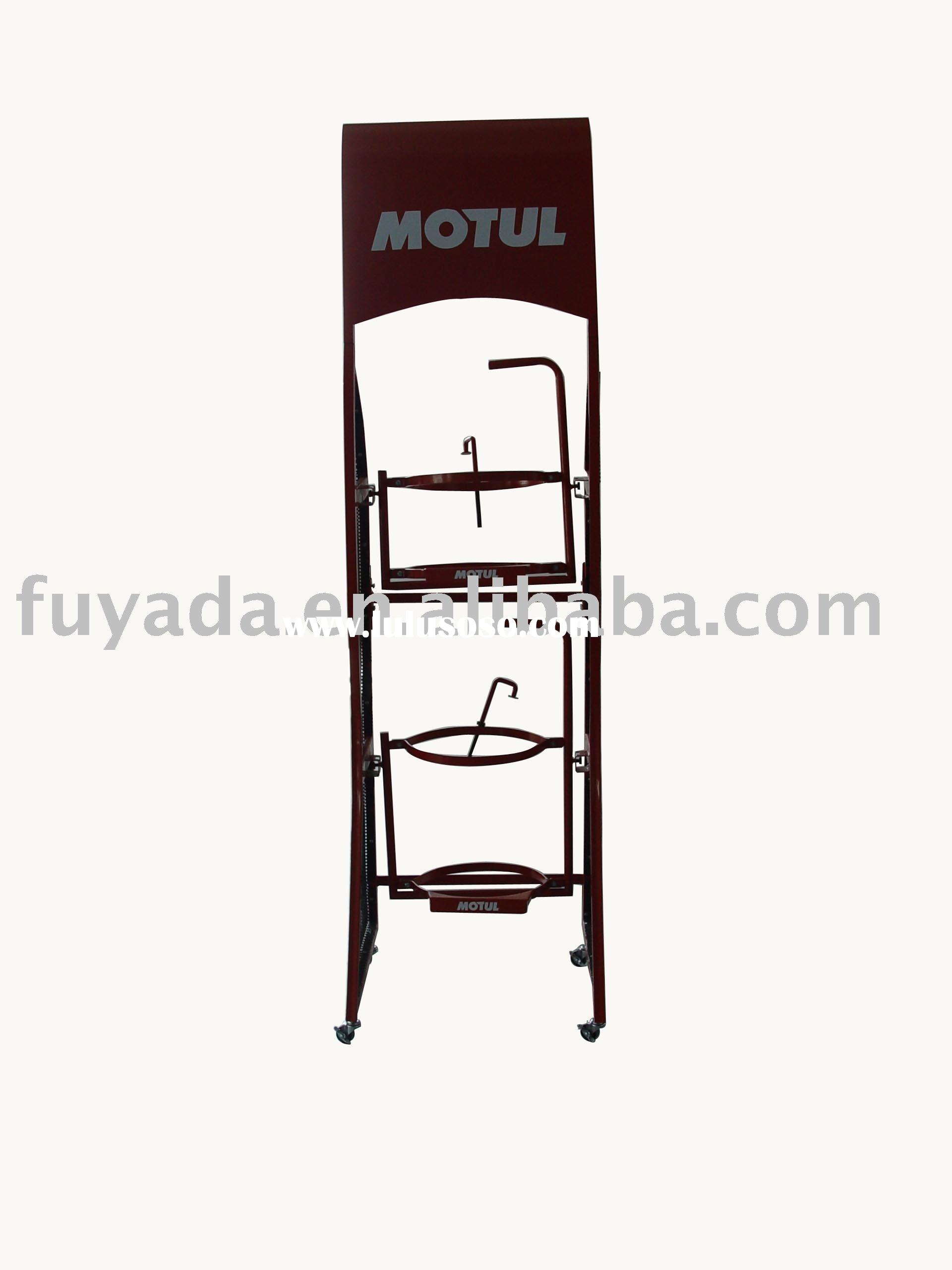 Display stand/Motor-oil display rack & shelf & racking &shelves