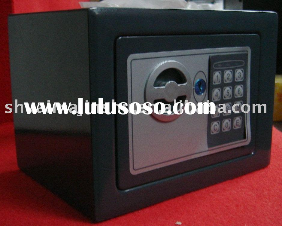 Electronic digital hotel safe box, mini safe, small safe, strong box, cash box