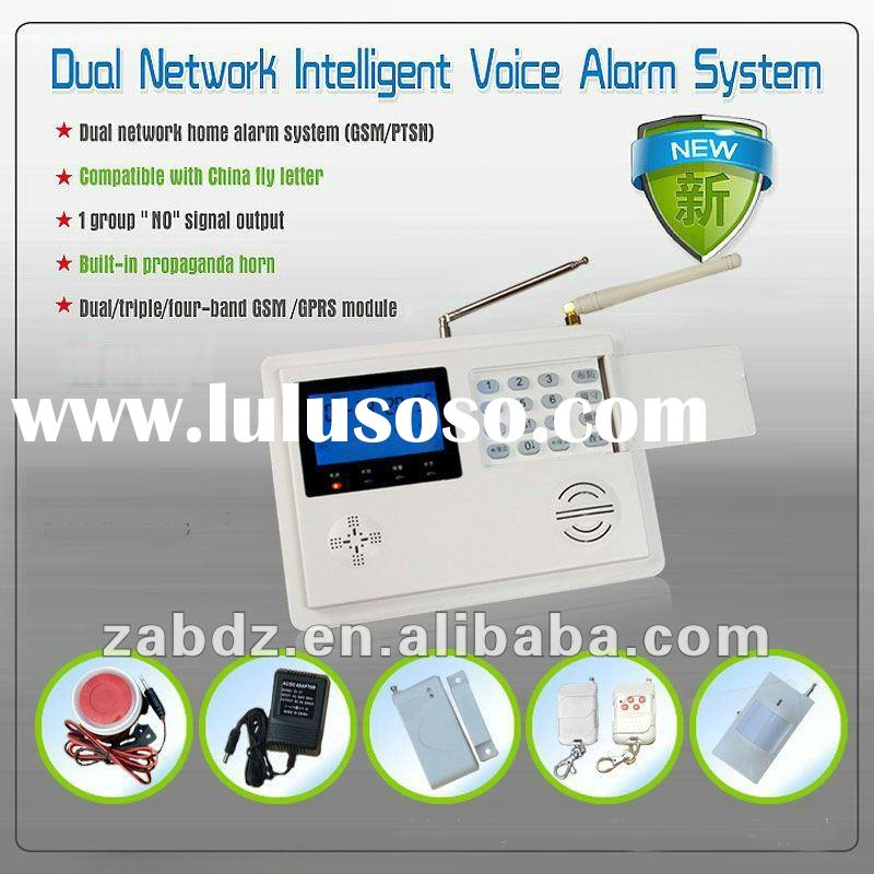 GSM AND PSTN Dual Network Home Intelligent Alarm System