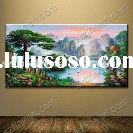 High quality beautiful landscape paintings of realistic mountain landscape LA-126-01