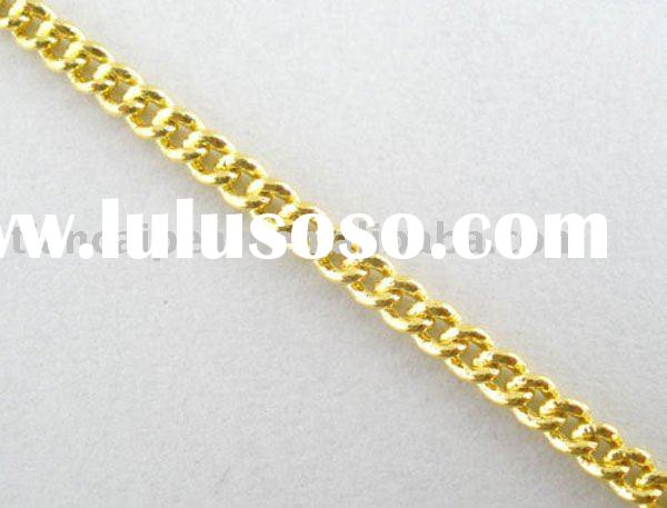 Jewelry Chain-4mm Gold Plated Cross Link Chain Jewelry Findings Jewelry Accessories Nickel Free!!
