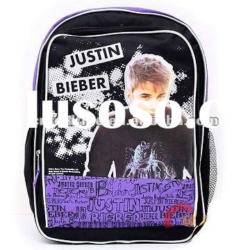 Justin Bieber School Large Backpack,high school bag,popular backpack