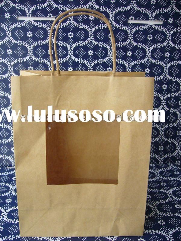 Kraft Paper Carrier Bags with window