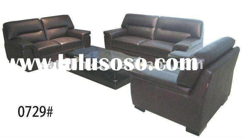 Leather antique sofa set