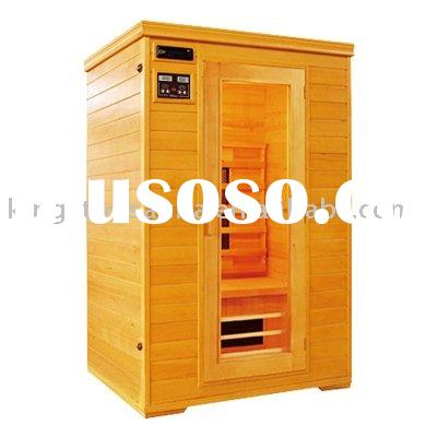 Red cedar infrared sauna red cedar infrared sauna for Keys backyard sauna