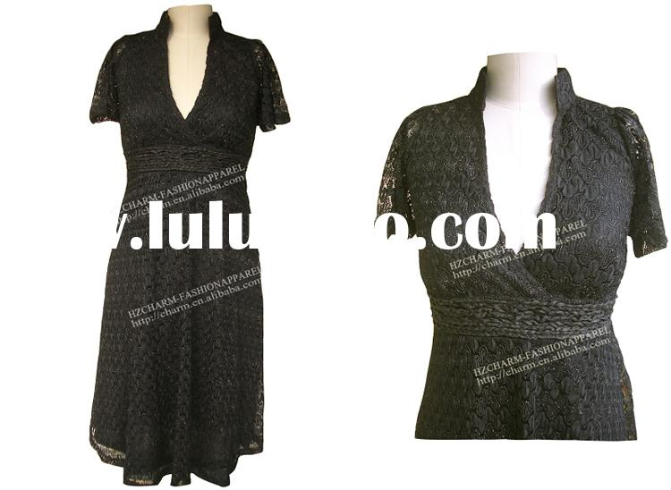 Missing knit flared sleeve dress, Short sleeve wrap dresses, Missing lace dresses