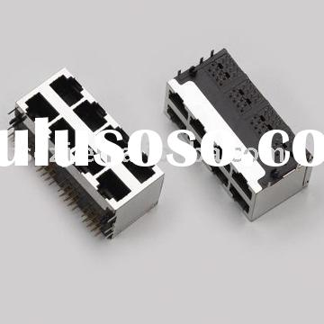 Mulit-Port RJ45 cable Connector with shield
