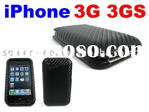 New Black Leather Case for iPhone 3GS