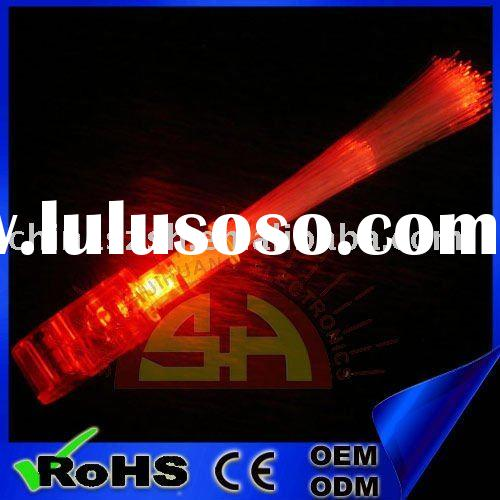 Party led flashing finger light with optical fiber