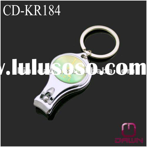 Promotional Nail Clipper with Keychain and Bottle Opener CD-KR184