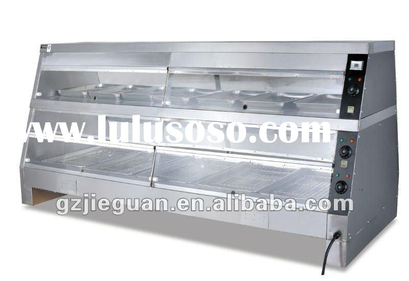 Stainless steel electric food warmer showcase(DH-4P)