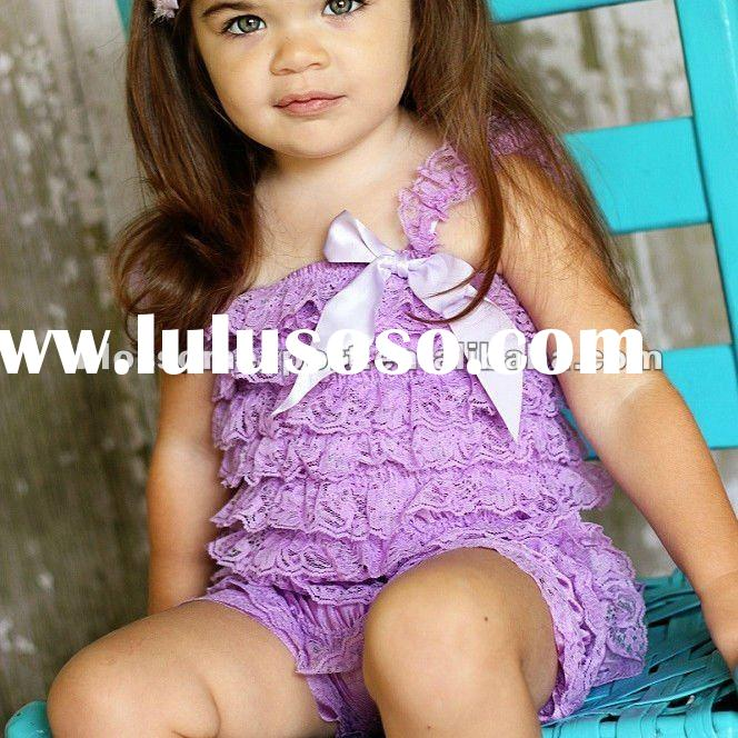 Wholesale lace petti romper for baby girls