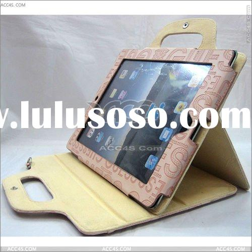 With Tape Guess Pattern Handbag and Shoulder bag, leather case for iPad 2 P-IPAD2CASE084