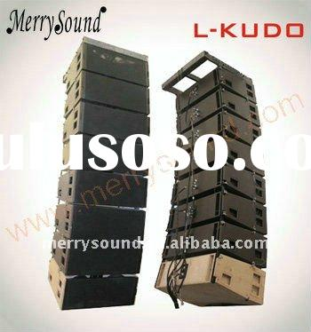 dual 12in line array speaker, professional audio system, l-acoustics (KUDO)