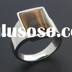 fashion stone ring 316L stainless steel jewellery
