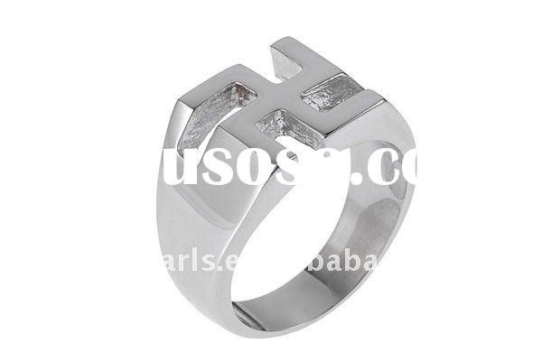 fashion swastika 316L stainless steel ring MER803