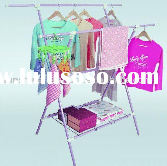outdoor/indoor folding metal clothes laundry garment hanging drying rack