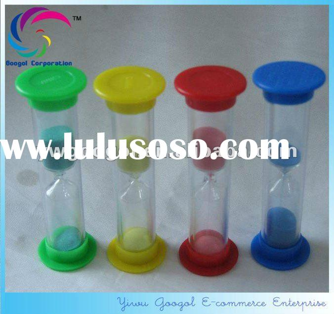 plastic sand timer hourglass,3 minutes plastic hourglass timer