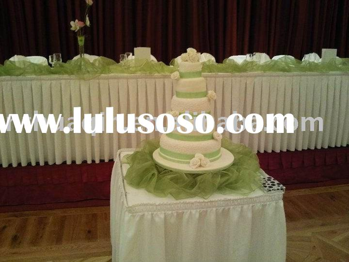 polyester table skirt banquet table skirting for wedding