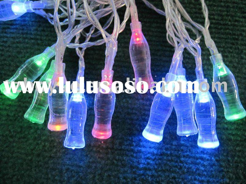 solar christmas string light with cola bottle