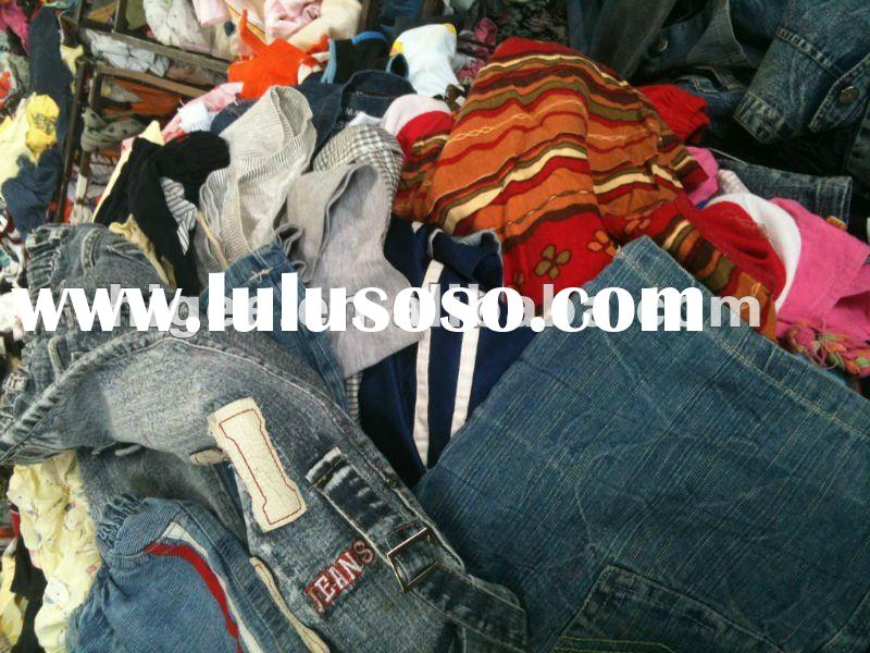 used clothes/clothing second hand clothes