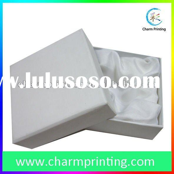 white cardboard gift box with lid
