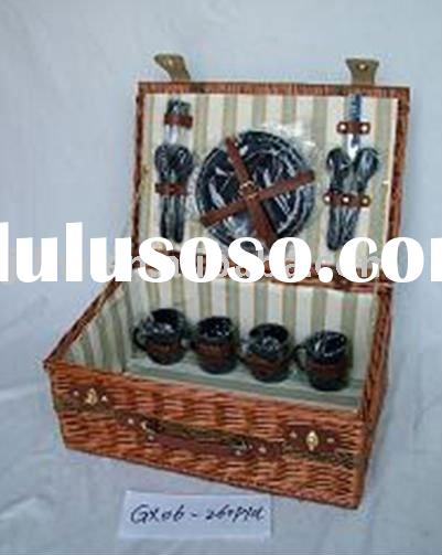 willow picnic basket oblong wicker basket with lid